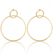 Trendy earrings Gold