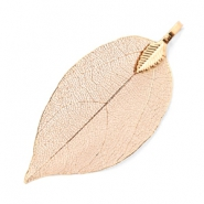 Charm with 1 loop metal leaf Light Rose Gold
