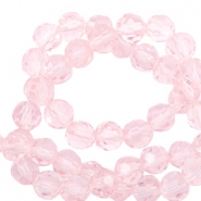 Round top faceted beads 4 mm Cradle Pink