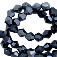 Top Faceted beads bicone 6 mm Hematite