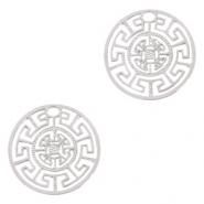 Bohemian charms geometric 13mm Silver