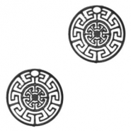 Bohemian charms geometric 13mm Black