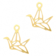 Bohemian charms geometric bird Gold