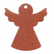 DQ European leather pendants angel Chestnut brown