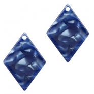 Resin pendants rhombus 20x14mm Dark Blue