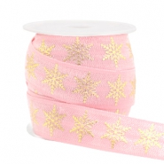 Elastic ribbon snowflake Light Pink