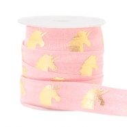 Elastic ribbon unicorn Light Pink