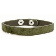 Ready-made Bracelets velvet Dark Olive Green