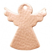 DQ European leather pendants metallic angel Light Rose Gold