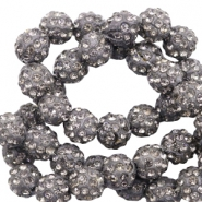 Rhinestone beads 10 mm Anthracite
