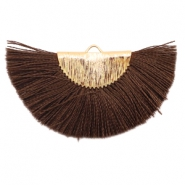 Tassels charm Gold-Chocolate Brown
