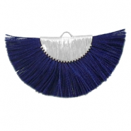 Tassels charm Silver-Dark Midnight Blue