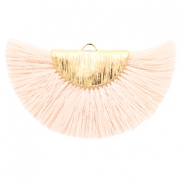 Tassels charm Gold-Light Peach