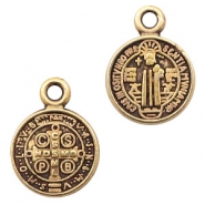 DQ European metal charms Jesus 9mm Antique Bronze (nickel free)