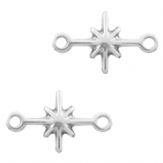 DQ European metal connector charms galaxy star Antique Silver (nickel free)