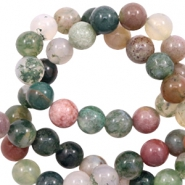 6 mm natural stone beads agate Green Mix