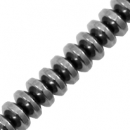 Hematite beads disc Anthracite Grey