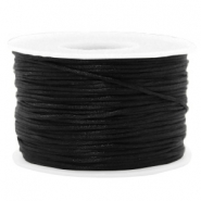 Macramé bead cord 1.5mm satin Black