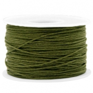 Waxed cord 1mm Army Green