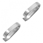 Stainless Steel findings oval jump ring 5x2mm Silver