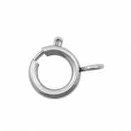 Stainless Steel findings clasp 7x6mm Silver