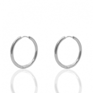 Stainless Steel earrings creole 16mm Silver