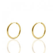 Stainless Steel earrings creole 15mm Gold