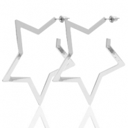 Trendy earrings star Silver (nickel free)