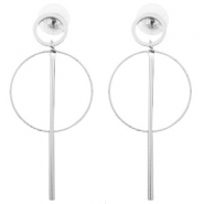 Trendy earrings Silver (nickel free)