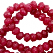 8 mm natural stone faceted beads disc Deep Red