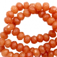 6 mm natural stone faceted beads disc Warm Orange