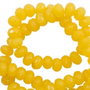 8 mm natural stone faceted beads disc Warm Soft Yellow