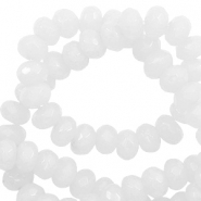 6 mm natural stone faceted beads disc Snowy White