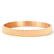 Stainless steel bracelets rhombus Rose Gold