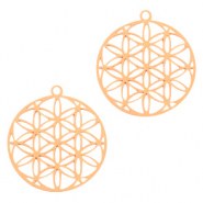 Bohemian charms round Rose Gold (nickel free)