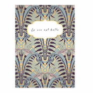 "Jewellery cards ""La vie est belle"" Blue"