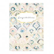 "Jewellery cards ""Congratulations"" Rose Blue"