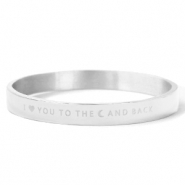"Stainless steel bracelets ""I LOVE YOU TO THE MOON AND BACK"" Silver"