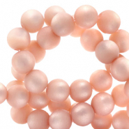 Super Polaris beads round 8 mm matt Cloud Coral Pink