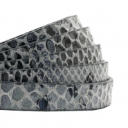 10 mm flat faux leather Snake Anthracite Grey