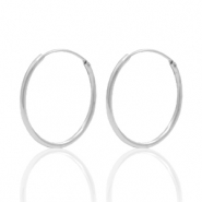925 Silver findings earrings creole 18mm Silver