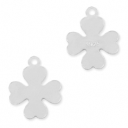 925 Silver charms clover Silver