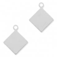925 Silver charms rhombus Silver