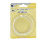 Artistic Wire 21 Gauge Flat Tarnish Resistant Silver