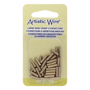 Artistic Wire 14 Gauge Crimp Tubes 10mm Brass Colour