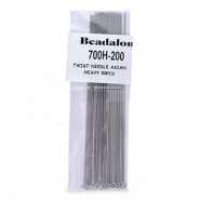 Beadalon Twisted Needle Asian Heavy 50pcs Silver