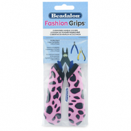 Beadalon Fashion Grips Tool Covers Cheetah Pink-Black