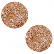 20 mm flat Polaris Elements cabochon Goldstein Caramel Yellow