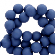 4 mm acrylic beads matt Midnight Blue