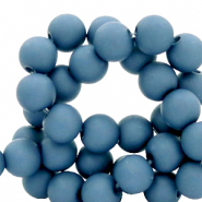 4 mm acrylic beads matt Steel Blue